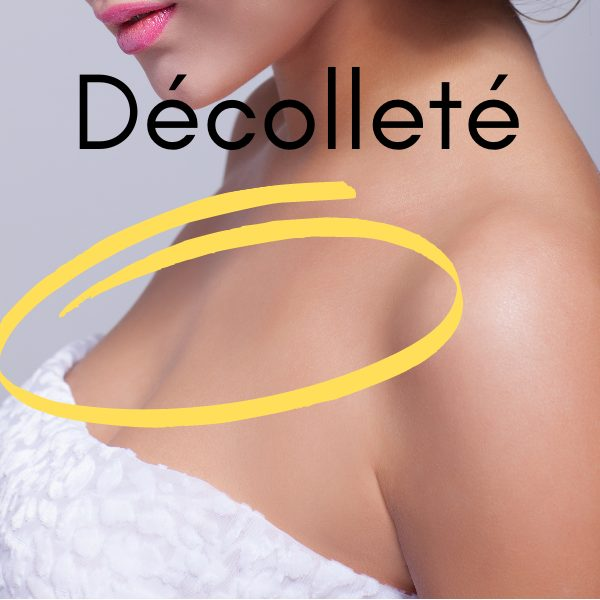 picture of the décolleté - the area between the breasts and the neck